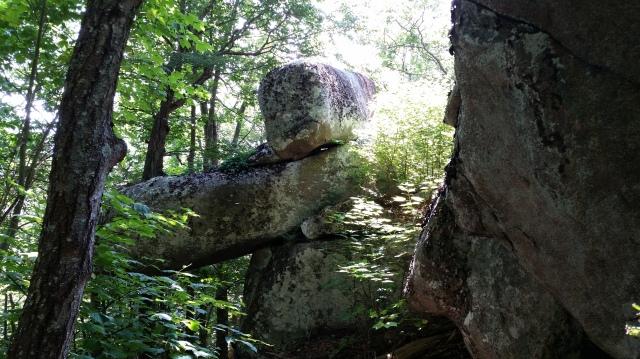 Cross Rock on Flat Top Mountain